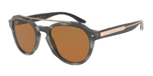 Giorgio Armani AR8129 Striped Grey Lentes Brown