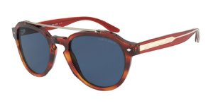 Giorgio Armani AR8129 Striped Brown Lentes Dark Blue