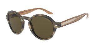 Giorgio Armani AR8130 Striped Brown Lentes Brown