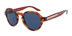 Giorgio Armani AR8130 Striped Brown Lentes Blue