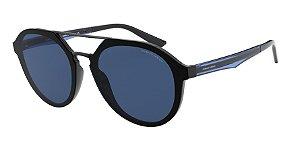 Giorgio Armani AR8131 Black Lentes Dark Blue
