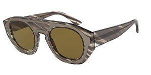 Giorgio Armani AR8135 Striped Grey Lentes Brown