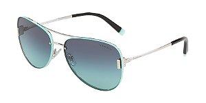 Tiffany TF3066 Silver Lentes Azure Gradient Blue