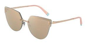 Tiffany TF3070 Rubedo Lentes Clear Mirror Real Rose Gold