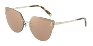 Tiffany TF3070 Pale Gold Lentes Clear Mirror Real Yellow Gold