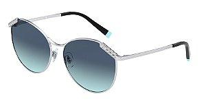 Tiffany TF3073B Silver Lentes Azure Gradient Blue