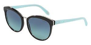 Tiffany TF4146 Black Lentes Azure Gradient Blue
