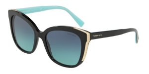 Tiffany TF4150 Black Lentes Azure Gradient Blue