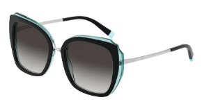 Tiffany TF4160 Black/Transparent Blue Lentes Grey Gradient