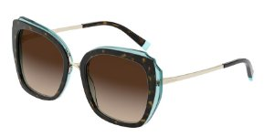 Tiffany TF4160 Havana/Transparent Blue Lentes Brown Gradient
