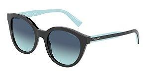 Tiffany TF4164 Black Lentes Azure Gradient Blue