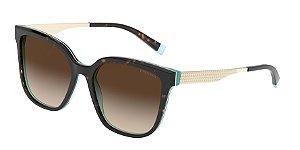 Tiffany TF4165 Havana/White/Blue Lentes Brown Gradient