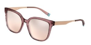 Tiffany TF4165 Pink Brown Transparent Lentes Brown Mirror Grad Silver