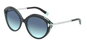 Tiffany TF4167 Black/Transparent Blue Lentes Azure Gradient Blue