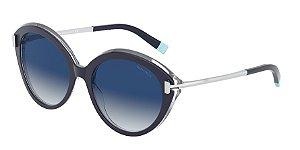 Tiffany TF4167 Blue/Crystal Lentes Light Grey Gradient Blue