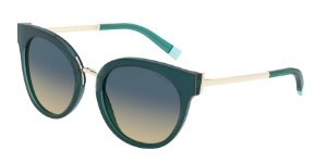 Tiffany TF4168 Blue Green/Transparent Blue Lentes Yellow Gradient Blue
