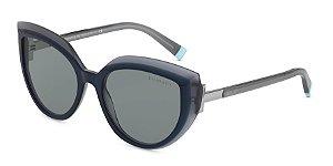 Tiffany TF4170 Blue/Blue Grey Transparent Lentes Dark Grey