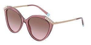 Tiffany TF4173B Transparent Pink Lentes Violet Gradient Brown