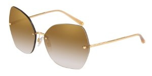 Dolce & Gabbana DG2204 Gold Lentes Grad Light Brown Mirror Gold
