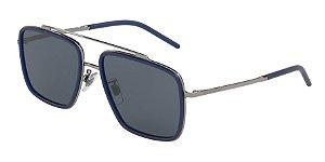 Dolce & Gabbana DG2220 Gunmetal/Matte Blue Lentes Dark Grey