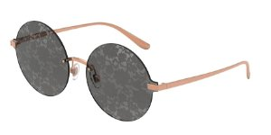 Dolce & Gabbana DG2228 Pink Gold Lentes Grey Tamp Silver Pizzo Int D&G