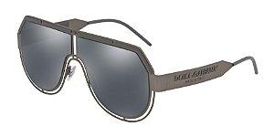 Dolce & Gabbana DG2231 Matte Dark Gunmetal Lentes Grey Mirror Black