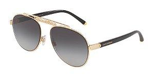 Dolce & Gabbana DG2235 Gold Lentes Grey Gradient