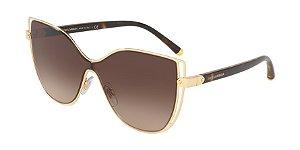 Dolce & Gabbana DG2236 Gold Lentes Brown Gradient