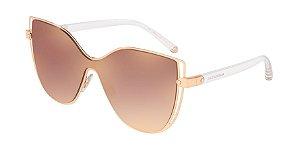 Dolce & Gabbana DG2236 Pink Gold Lentes Gradient Pink Mirror Pink