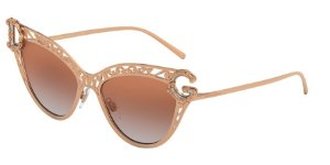 Dolce & Gabbana DG2239 Pink Gold Lentes Gradient Pink Mirror Pink
