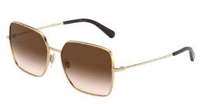 Dolce & Gabbana DG2242 Gold Lentes Brown Gradient