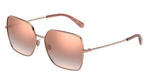 Dolce & Gabbana DG2242 Pink Gold Lentes Gradient Pink Mirror Pink