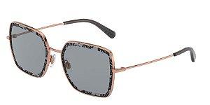 Dolce & Gabbana DG2242 Pink Gold Lentes Orange Uv Printing Pizzo 2 D&G