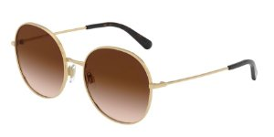 Dolce & Gabbana DG2243 Gold Lentes Brown Gradient