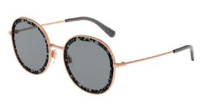 Dolce & Gabbana DG2243 Pink Gold Lentes Grey Uv Printing Pizzo 1 D&G