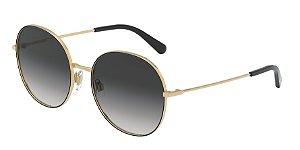 Dolce & Gabbana DG2243 Gold/Black Lentes Grey Gradient