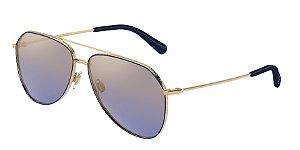 Dolce & Gabbana DG2244 Gold/Blue Lentes Blue Mirror Gradient Gold