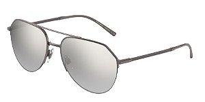 Dolce & Gabbana DG2249 Gunmetal Lentes Light Grey Mirror Silver Grad