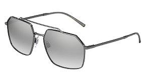 Dolce & Gabbana DG2250 Gunmetal Lentes Light Grey Mirror Silver Grad