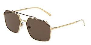Dolce & Gabbana DG2250 Gold/Havana Lentes Brown