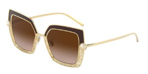 Dolce & Gabbana DG2251H Gold/Brown Lentes Brown Gradient