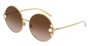 Dolce & Gabbana DG2252H Gold Lentes Brown Gradient