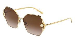 Dolce & Gabbana DG2253H Gold Lentes Brown Gradient