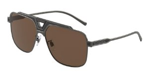 Dolce & Gabbana DG2256 Bronze/Black Matte Lentes Dark Brown