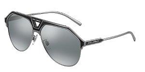 Dolce & Gabbana DG2257 Gunmetal/Black Matte Lentes Light Grey Mirror Black