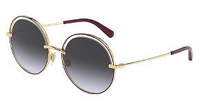 Dolce & Gabbana DG2262 Pink Gold/Bordeaux Lentes Grey Gradient