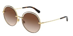 Dolce & Gabbana DG2262 Gold/Brown Lentes Brown Gradient