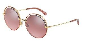 Dolce & Gabbana DG2262 Gold/Pink Lentes Pink Mirror Silver Gradient