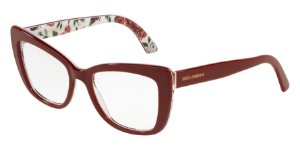 Dolce & Gabbana DG3308 Bordeaux/Rose And Peony