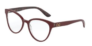 Dolce & Gabbana DG3320 Bordeaux On Damasco Black